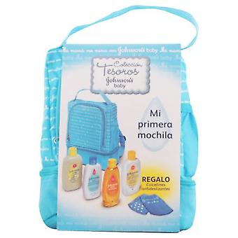 Johnson's Pack Blue Backpack 5 Pieces (Children , Perfume)