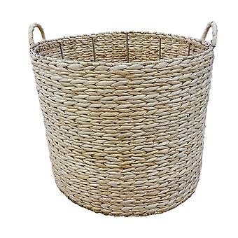 Large Round Water Hyacinth Storage Basket