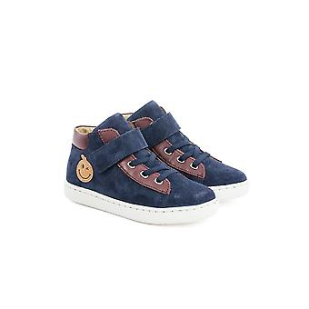 Shoo Pom Play Fast Boys Smart High Top Boots In Suede Leather
