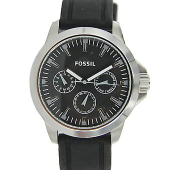 Fossil men's watch Chronograph Watch Black silicone BQ1291