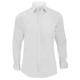Brook Taverner Mens Chelford Cotton Slim Fit Double Cuff Work Shirt