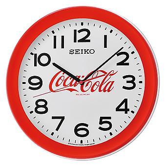 Seiko 3-hand quartz movement Coca-Cola Wall Clock - Red (Model No. QXA922R)