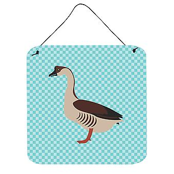 Chinese Goose Blue Check Wall or Door Hanging Prints