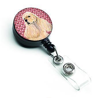 Cocker Spaniel  Retractable Badge Reel or ID Holder with Clip