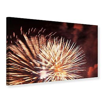 Canvas Print Close Up Fireworks