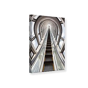 Leinwand drucken futuristische Rolltreppe
