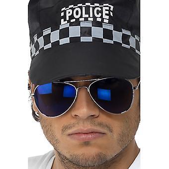 Pilotenbrille, Blau verspiegelt