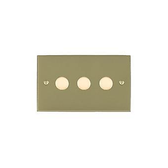Hamilton Litestat Cheriton Victorian Satin Brass 3g 400W 2 Way Dimmer SB