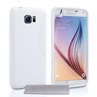 Caseflex Samsung Galaxy S6 Silicone Gel S-Line Case - White