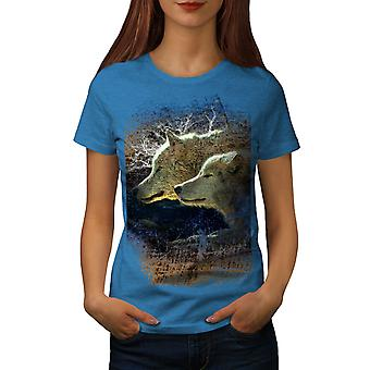 Wolf Beast Wild Animal Women Royal BlueT-shirt | Wellcoda