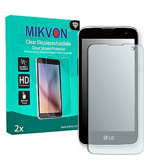 LG K4 Screen Protector - Mikvon Clear (Retail Package with accessories) (intentionally smaller than the display due to its curved surface)