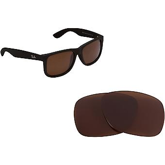 Ray Ban Justin 4165 Replacement Lenses Polarized Brown B-15 by SEEK fits RAY BAN