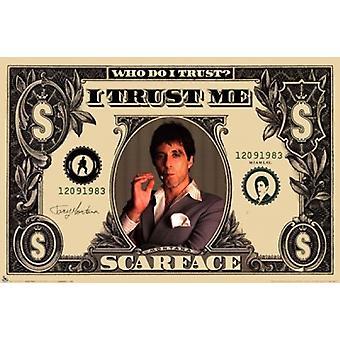 Scarface - Geld-Plakat-Druck