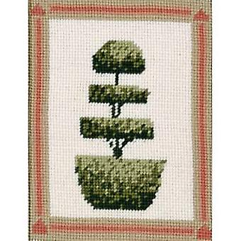 Layered Topiary Tree Needlepoint Kit
