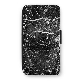 Samsung Galaxy J3 (2016) Flip Case - svart marmor