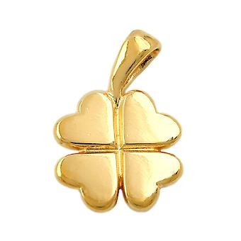 3 leaf clover pendant micron gold-plated