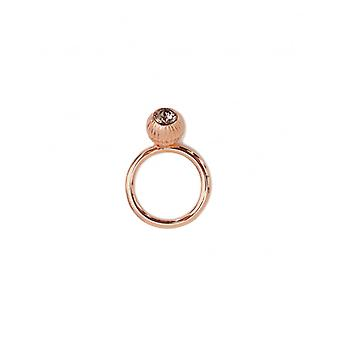 Ted Baker Anessa Plisse Crystal Ball Ring