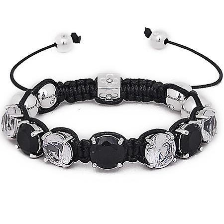 Iced out unisexe bracelet - broches SHAMBALLA argent / noir