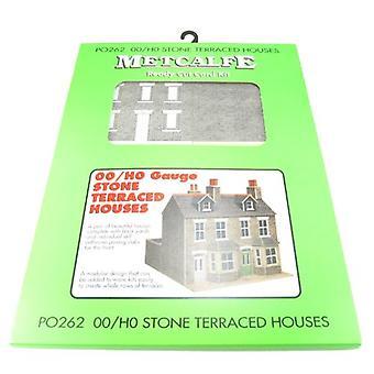 Metcalfe Po262 Oo Gauge placa Kit - pedra de casas geminadas