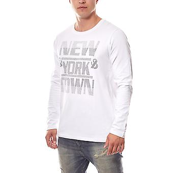 Men's slim fit T-shirt White GLO STORY