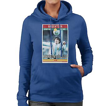 Sporting Legends Poster Argentina Diego Maradona World Cup 1960 Women's Hooded Sweatshirt