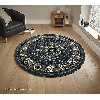 Nerima Dark Blue Circle Teppich