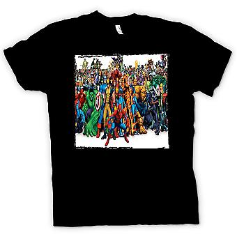 Mens T-shirt - Marvel Comic Hero Group - Portait