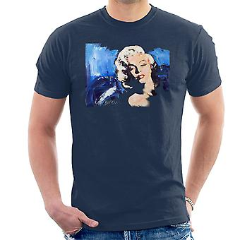 Sidney Maurer Original Portrait Of Marilyn Monroe Blonde Bombshell Men's T-Shirt