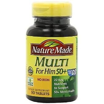 Nature Made Multi For Him 50+ No Iron 2 Bottle Pack