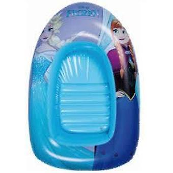 Frozen inflatable boat