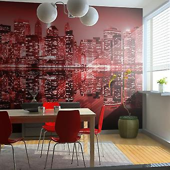Wellindal Wallpaper Red hot NYC (Decoration , Vinyls)