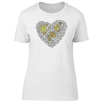 0cb2a75162a614 Herz, Surf, Ice Cream, Beach T-Shirt Frauen-Bild von Shutterstock