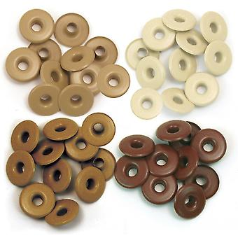 Eyelets Wide 40/Pkg-Brown