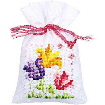 Flowers And Butterflies Bags On Aida Counted Cross Stitch Ki-3.25