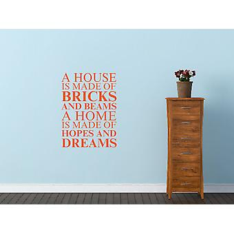 A house is made of Wall Art Sticker - Orange