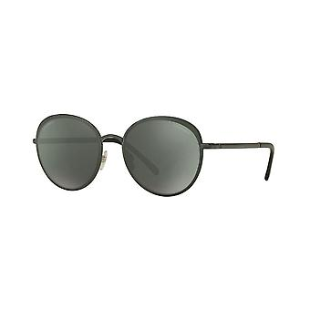 Chanel Chanel Ex-Display Ladies Dark Green Round Sunglasses With Green Tinted Lenses