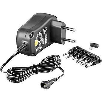 Goobay 67951 Mains PSU (adjustable voltage) 3 Vdc, 4.5 Vdc, 5 Vdc, 6 Vdc, 7.5 Vdc, 9 Vdc, 12 Vdc 1000 mA 12 W