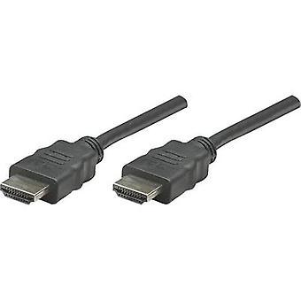 Manhattan HDMI Cable [1x HDMI plug - 1x HDMI plug] 1 m Black