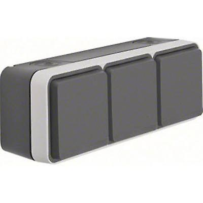 Berker Triple socket W.1 (surface-mounted) gris, lumière gris 47733515