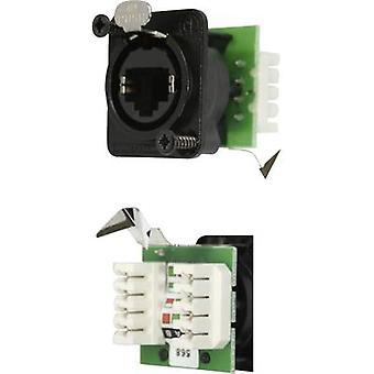 Neutrik NE8FDV-YK-B NE8FDV-YK-B RJ45 datos conector EtherCon D serie RJ45 de zócalo, recto negro