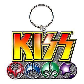 Llavero Metal Logo y los iconos de beso