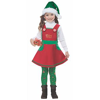 Elf In Charge Santa Helper Christmas Holiday Dress Up Toddler Girls Costume
