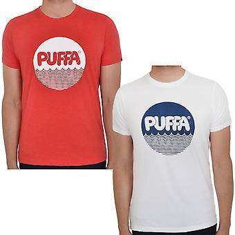 Puffa Mens Nico Printed Graphic Logo Short Sleeve Crew Neck T-Shirt Tee Top