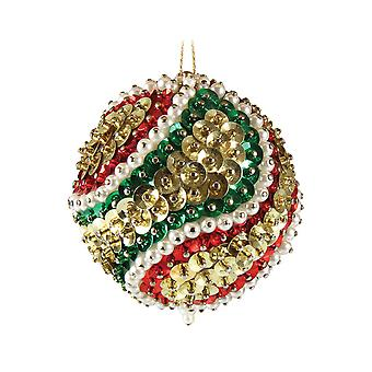 Pinflair Sequin & Pin Spiral Bauble Ornaments - Makes 2
