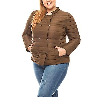 B.C.. best connections weather-resistant Quilted Jacket plus size olive