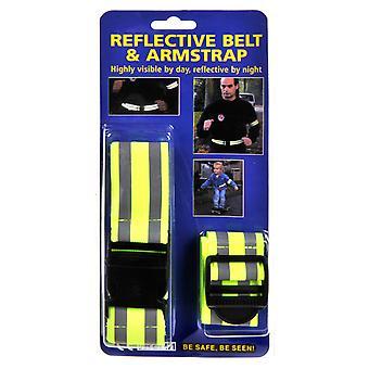 Reflektierendes Gurtband + Armband