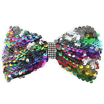 Molly & Rose Large Glitter Hair Bow Clip Multi