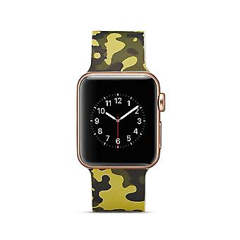 Siliconen klockrem voor Apple Watch 4 40 mm, 3/2/1-38 mm-leger groen Camouflage
