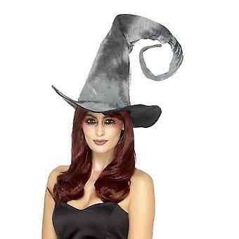 Deluxe Spellbound vergane hoed, binden kleurstof, grijs, Tall & verdraaid, Unisex