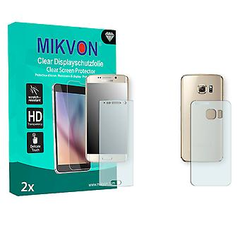 Samsung Galaxy S6 Edge Screen Protector - Mikvon Clear (Retail Package with accessories) (3x FRONT / 3x BACK) (reduced foil)